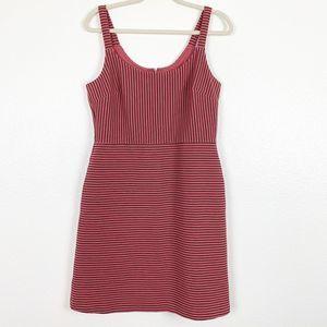 Loft Pink Pinstripe Sleeveless A-Line Dress